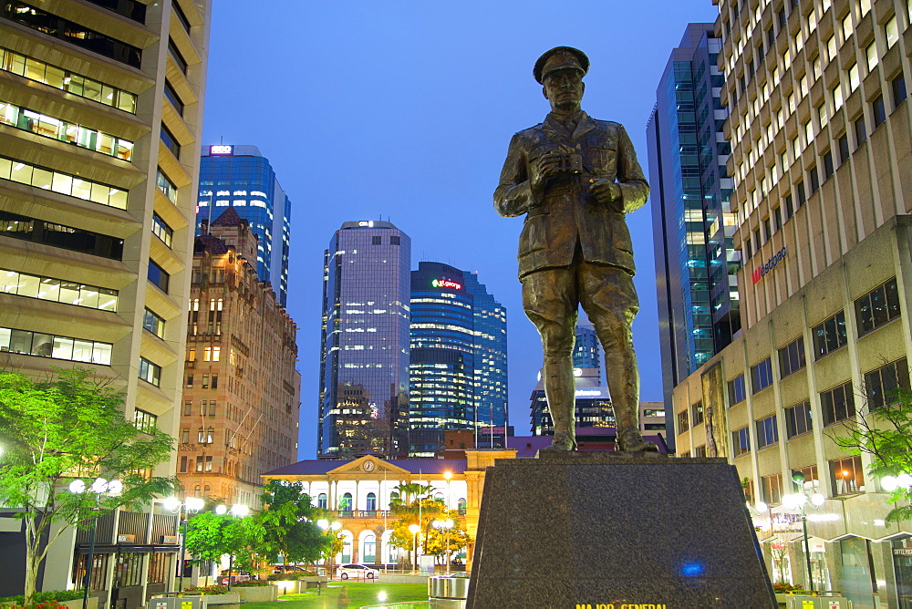 Sir William Glasgow Statue on Post Office Square, Brisbane, Queensland, Australia, Oceania