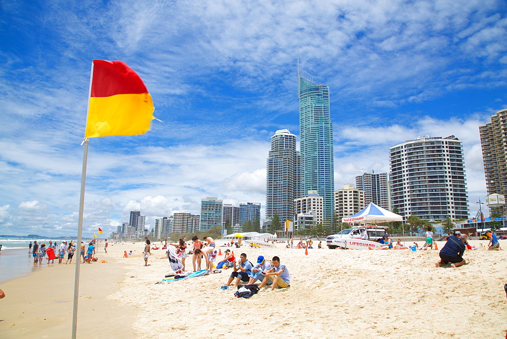 Surfers Paradise, Beach Front Skyscrapers, Gold Coast, Queensland, Australia, Oceania