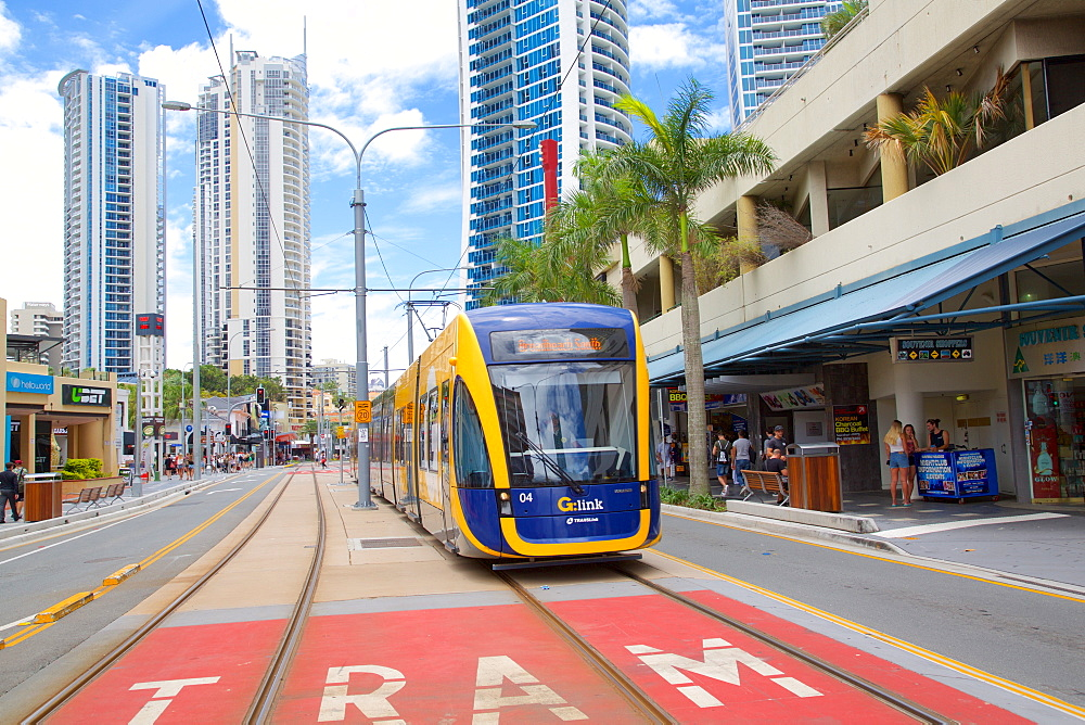 Local Tram in Surfers Paradise, Queensland, Australia, Oceania