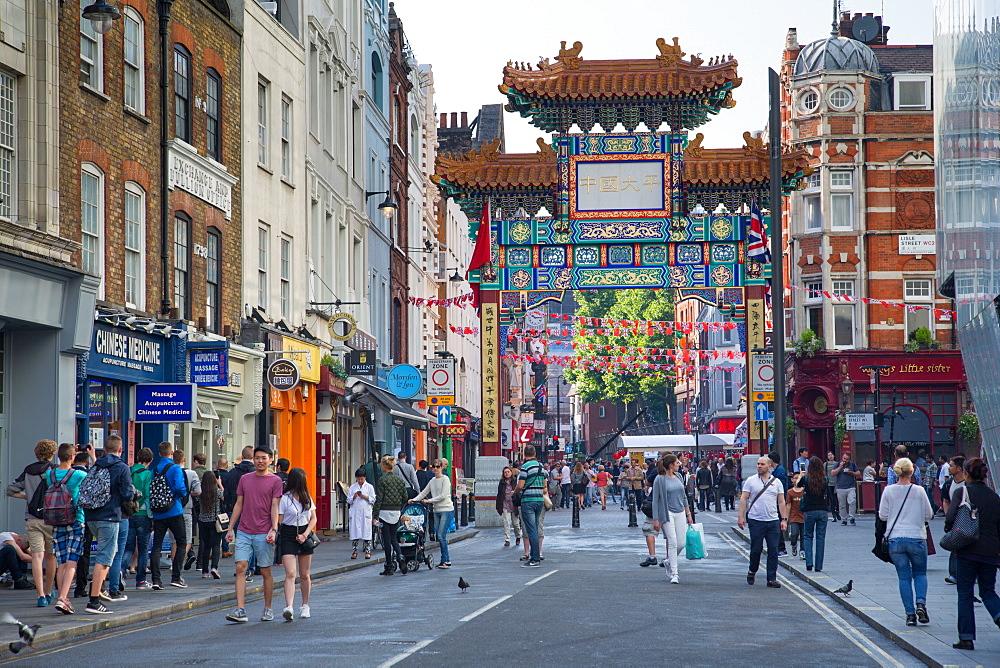 Chinatown on Wardour Street, London, England, United Kingdom, Europe