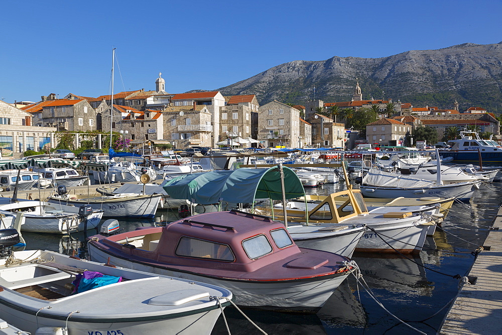The Harbour, Korcula Town, Korcula, Dalmatia, Croatia, Europe