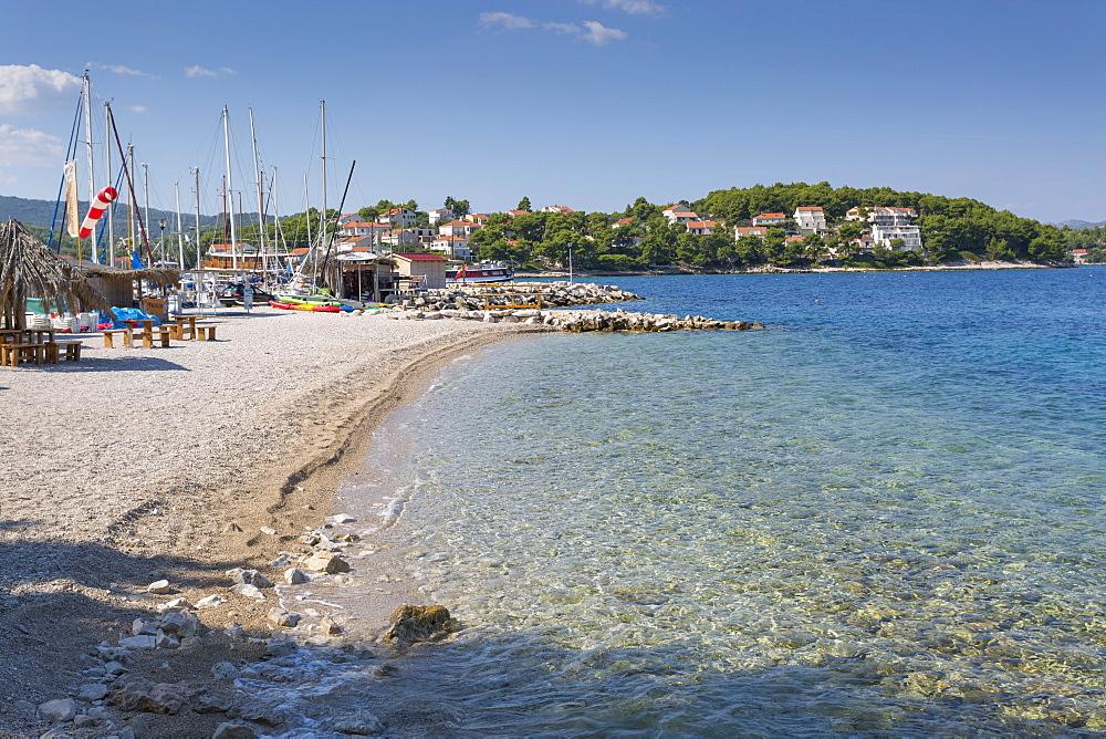 Beach, Lumbarda, Korcula, Dubrovnik-Neretva County, Dalmatia, Croatia, Europe