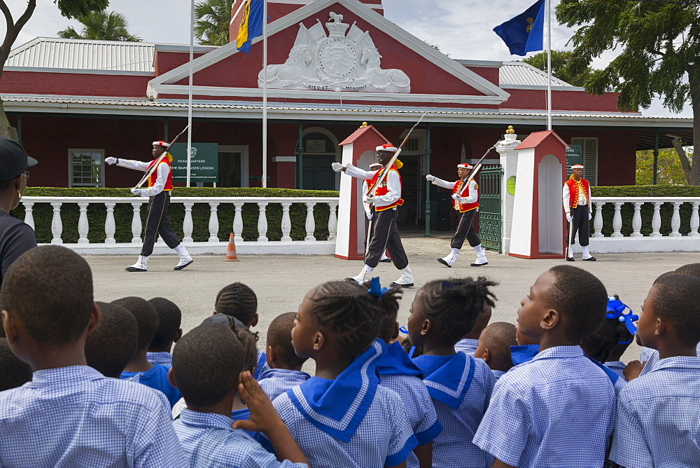 Changing of the Guard, The Garrison, Bridgetown, Christ Church, Barbados, West Indies, Caribbean, Central America