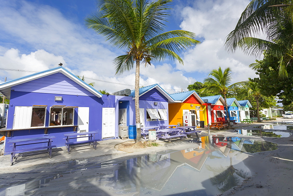 Row of Chattel Houses, Oistins, Christ Church, Barbados, West Indies, Caribbean