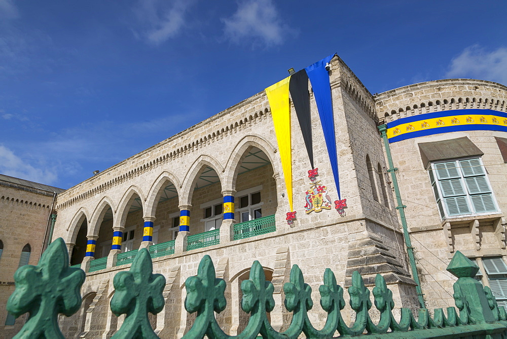 Parliament Building in National Heroes Square, Bridgetown, St. Michael, Barbados, West Indies, Caribbean, Central America