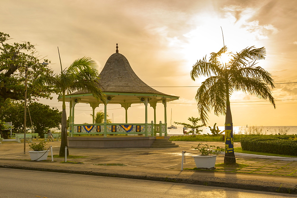 Bandstand and Brownes Beach, Bridgetown, St. Michael, Barbados, West Indies, Caribbean, Central America