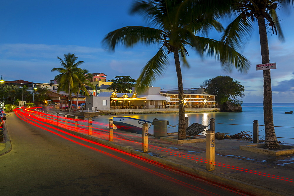 St. Lawrence Gap at dusk, Christ Church, Barbados, West Indies, Caribbean, Central America