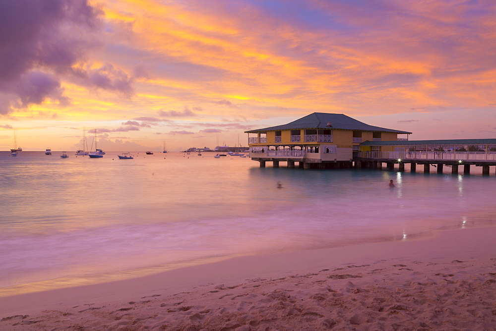 Brownes Beach sunset, St. Michael, Barbados, West Indies, Caribbean, Central America - 844-9689