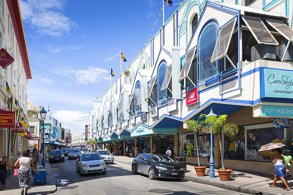 Architecture on Broad Street, Bridgetown, St. Michael, Barbados, West Indies, Caribbean, Central America