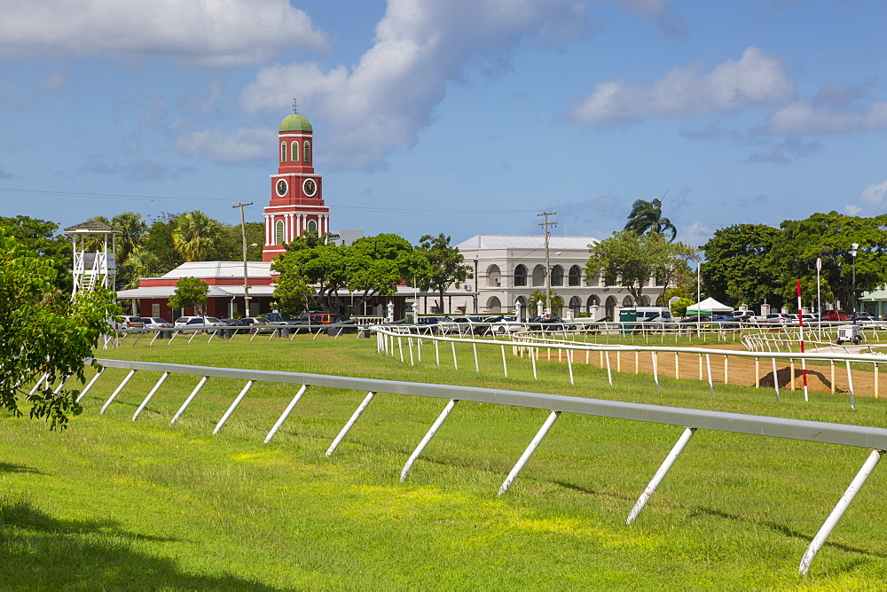 Savannah Racecourse and Garrison Clock Tower, Christ Church, Barbados, West Indies, Caribbean, Central America