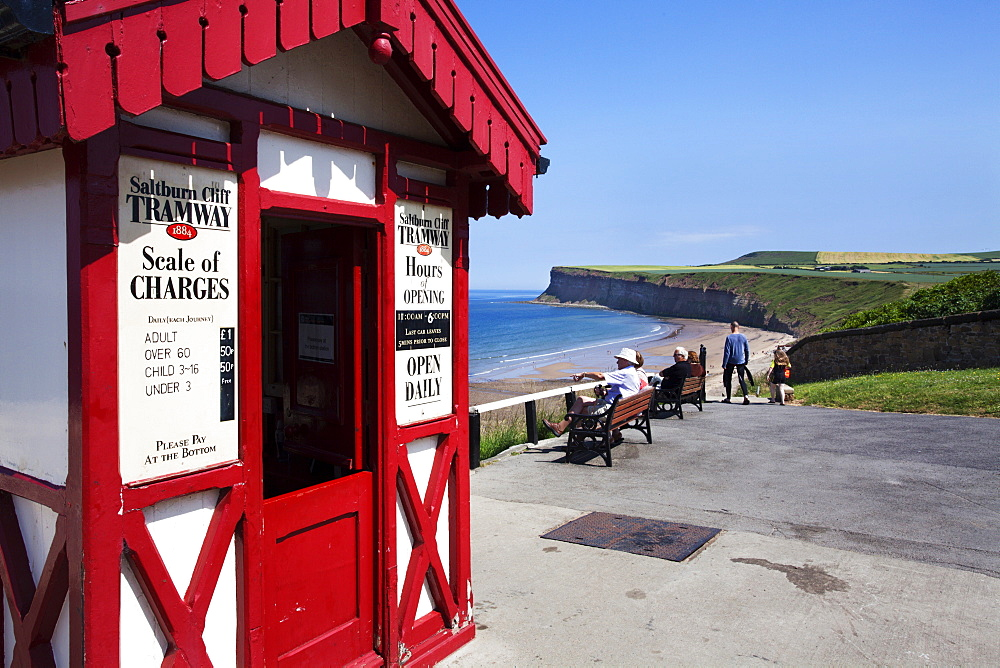 Top Cliff Tramway Kiosk at Saltburn by the Sea, Redcar and Cleveland, North Yorkshire, Yorkshire, England, United Kingdom, Europe