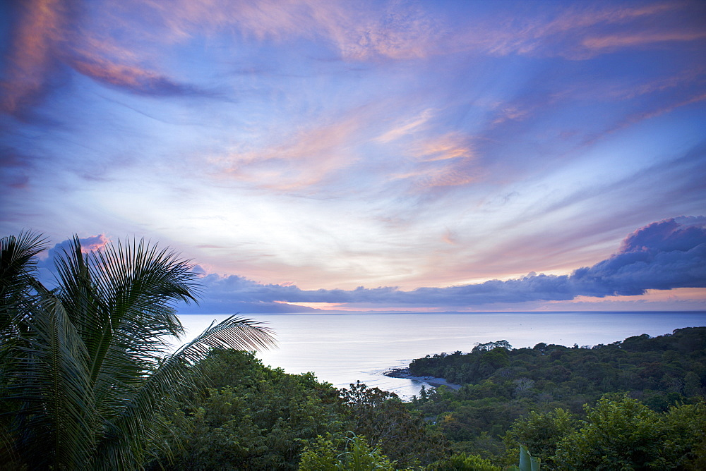 Sunrise in the jungle at Lapa Rios nature reserve on the Osa Peninsula, Costa Rica, Central America - 847-17