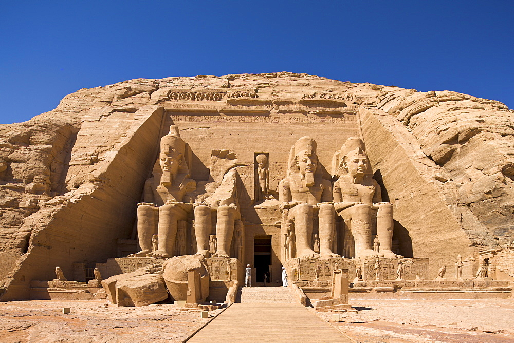 The Temple of Re-Herakhte at Abu Simbel, UNESCO World Heritage Site, Nubia, Egypt, North Africa, Africa