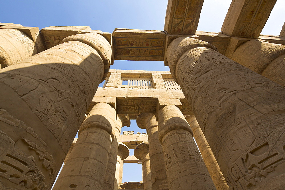 The Great Hypostyle Hall of the Karnak Temple of Amun, Karnak, Thebes, UNESCO World Heritage Site, Egypt, North Africa, Africa