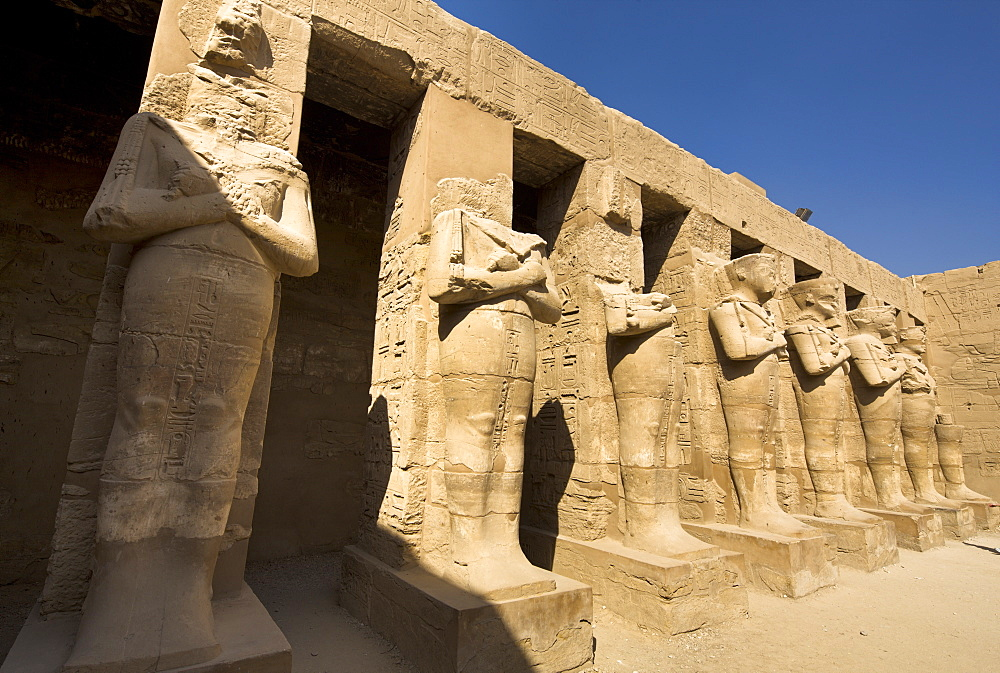 Temple of Ramesses III at Karnak, Thebes, UNESCO World Heritage Site, Egypt, North Africa, Africa