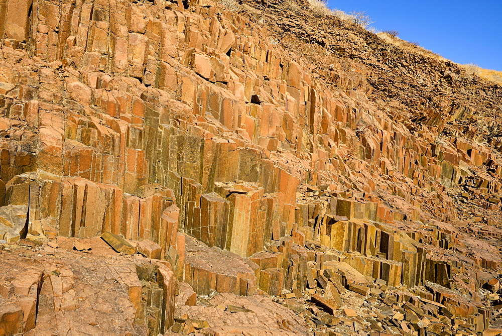 A geological formation located near Twyfelfontein, Namibia, Africa