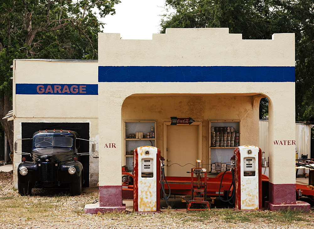 Exterior of Gas Station, Kanarraville, Utah, United States of America, North America