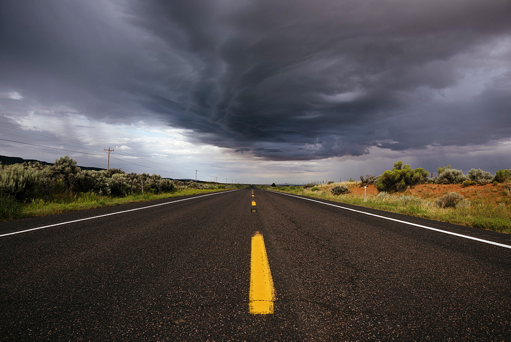 Stormy sky over Highway 98 West, Arizona, United States of America, North America