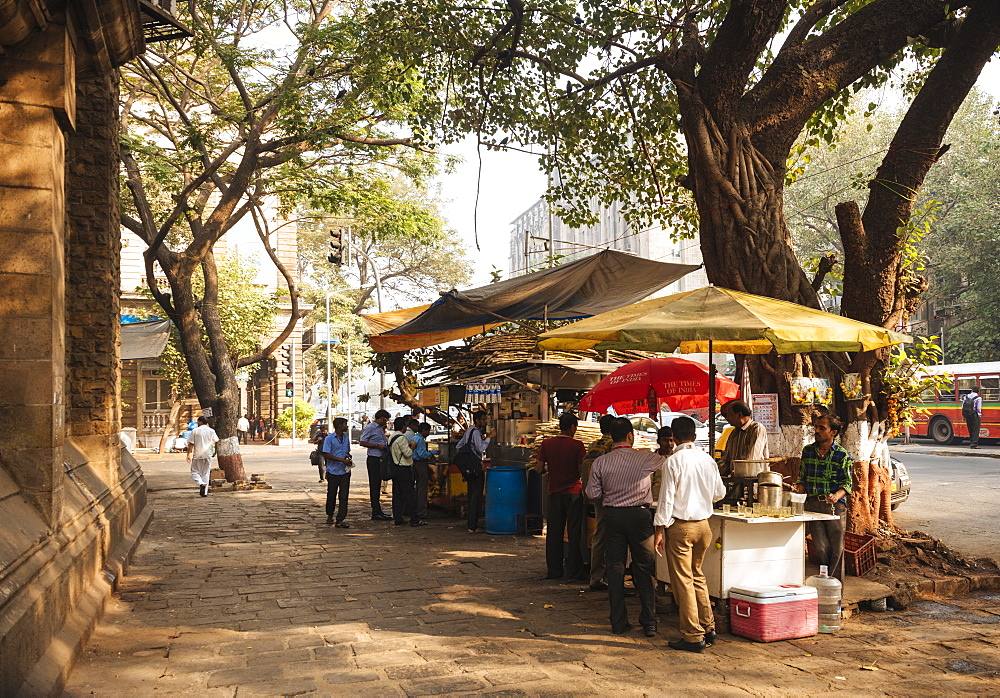 Chai stall, Mumbai (Bombay), India, South Asia