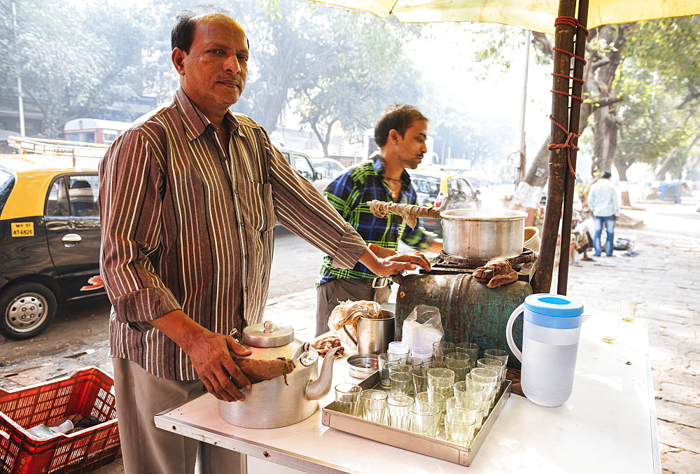 Chai stall, Mumbai, India, South Asia