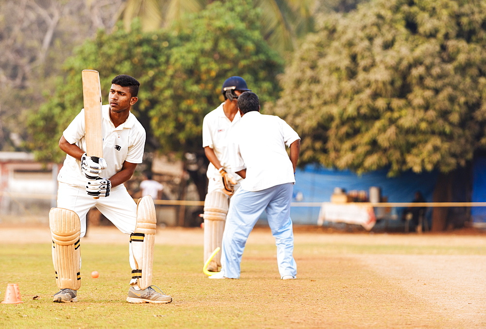 Cricket at Azad Maidan, Mumbai, India, South Asia