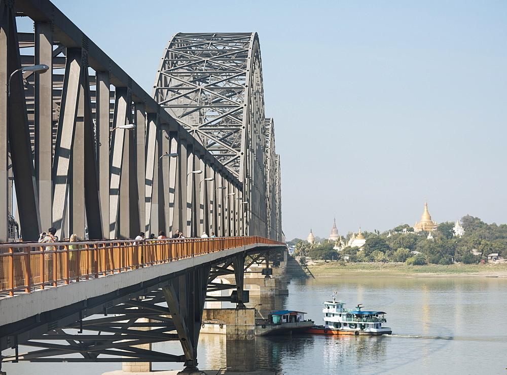 Sagaing Bridge, Mandalay, Mandalay Region, Myanmar (Burma), Asia