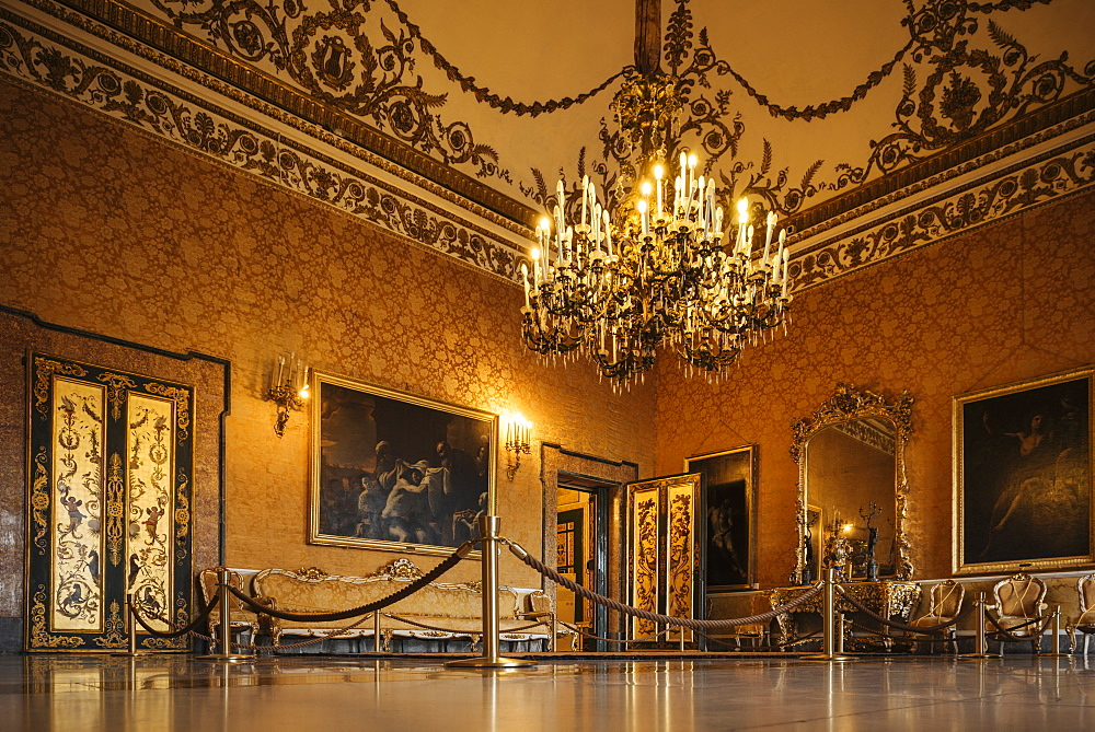 Interior of Palazzo Reale di Napoli, Naples, Campania, Italy, Europe