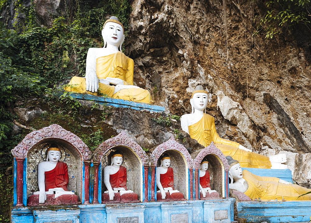 Kaw Ka Thawng Cave, Hpa-an, Kayin State, Myanmar (Burma), Asia - 848-1336