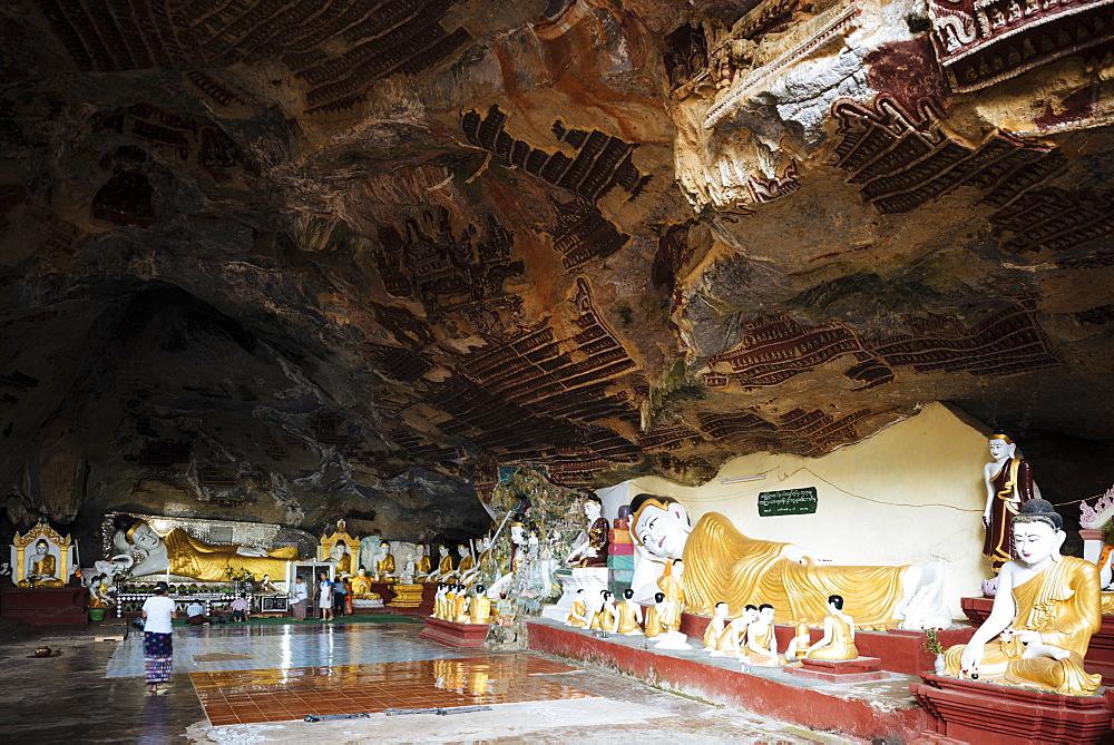 Kaw Gon Cave, Hpa-an, Kayin State, Myanmar (Burma), Asia
