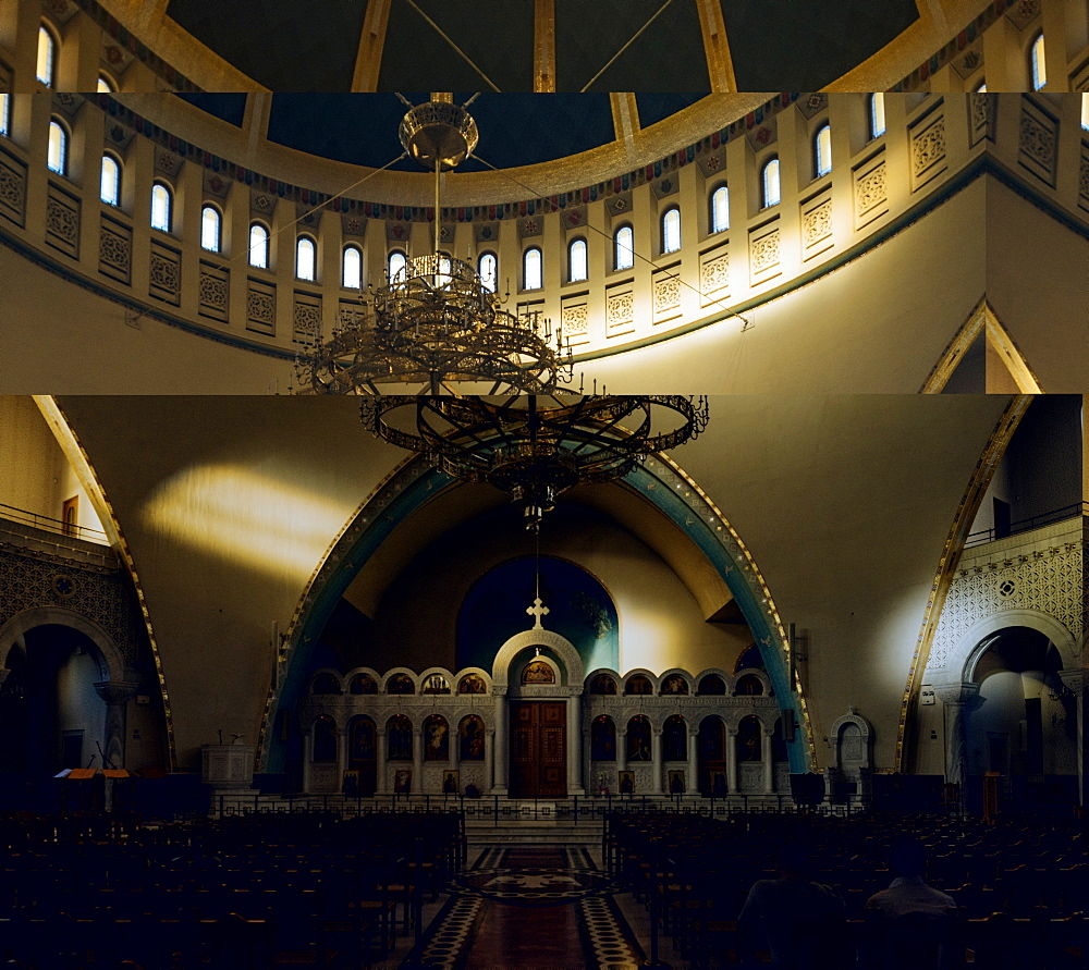 Interior of Resurrection Cathedral, Tirana, Albania