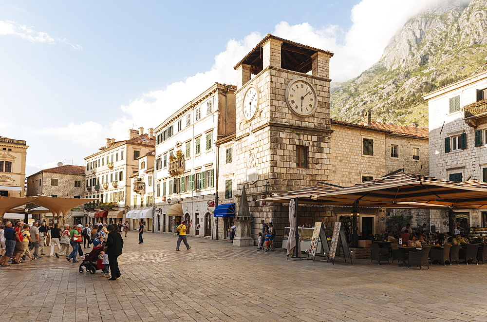 Clock Tower, Stari Grad (Old Town) of Kotor, Bay of Kotor, Montenegro, Europe - 848-1382