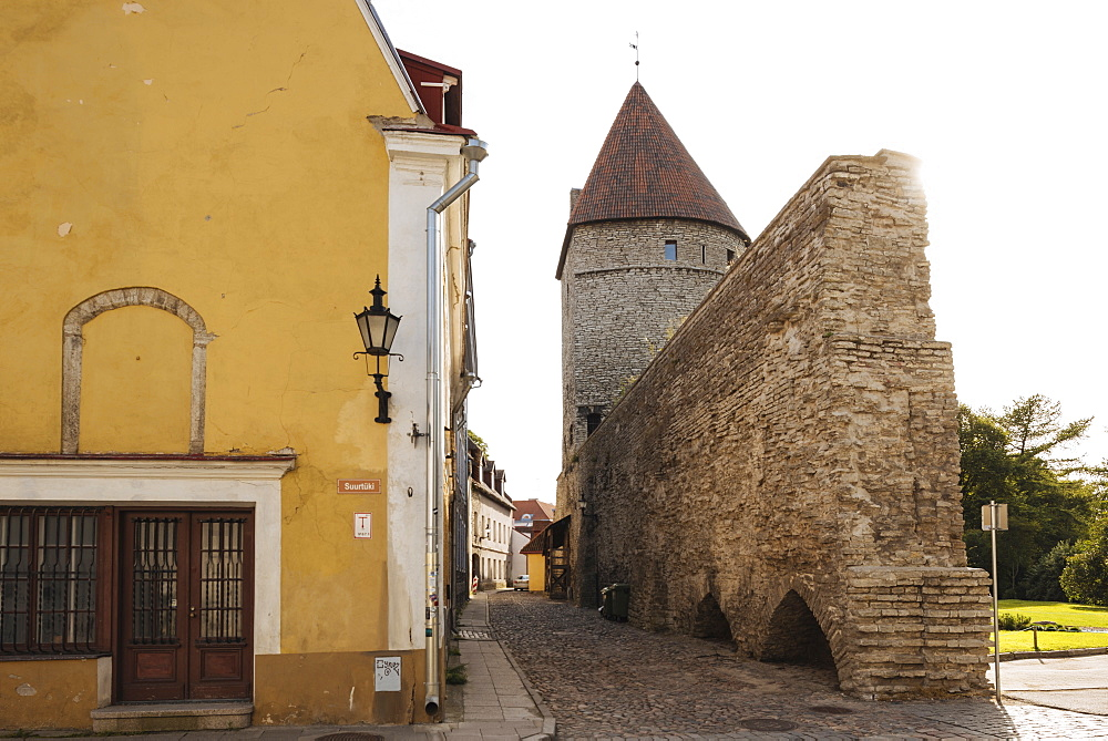 The Old City walls, Old Town, Tallinn, Estonia, Europe - 848-1404