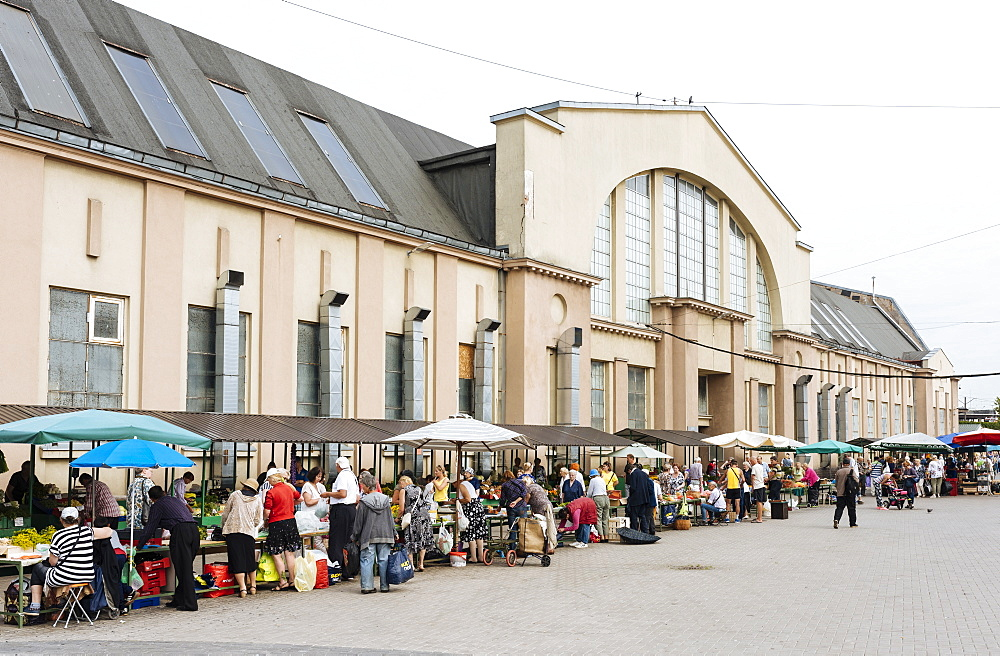 Exterior of Riga Central Market, Riga, Latvia, Baltic States, Europe