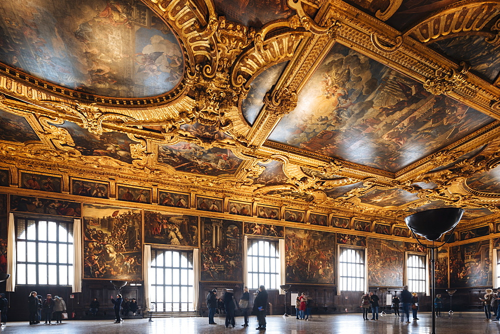 Interior of The Doge's Palace (Palazzo Ducale), Venice, UNESCO World Heritage Site, Veneto Province, Italy, Europe - 848-1464