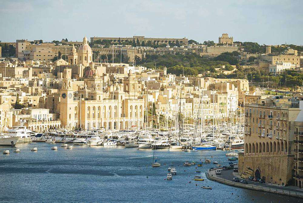 View over Grand Harbour, Valletta, Malta, Europe