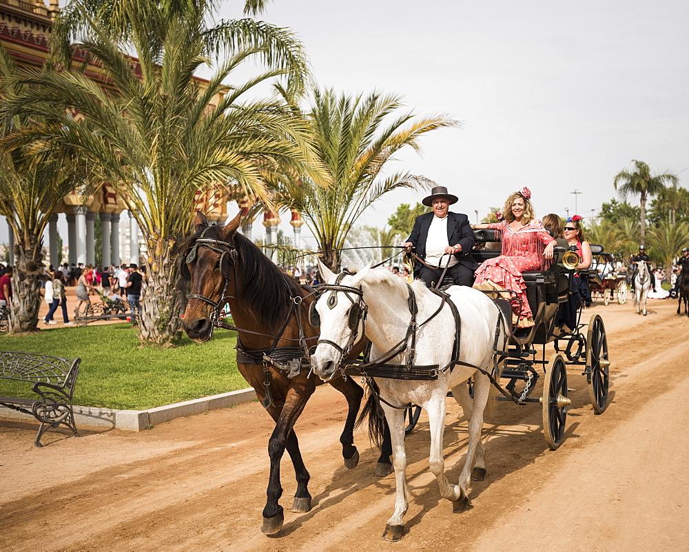 Feira de Cordoba, Cordoba, Andalucia, Spain, Europe