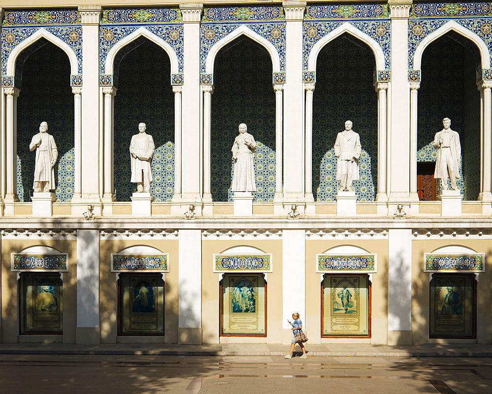 Exterior of Nizami Museum of Azerbaijan Literature, Baku, Azerbaijan, Central Asia, Asia - 848-1627