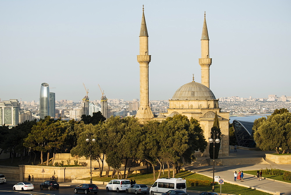 The Shahid Mosque, Baku, Azerbaijan, Central Asia, Asia