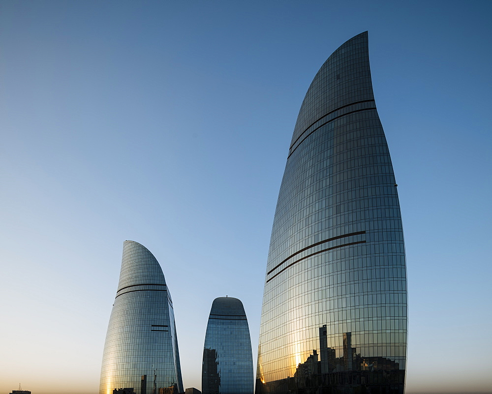 Flame Towers, Baku, Azerbaijan, Central Asia, Asia