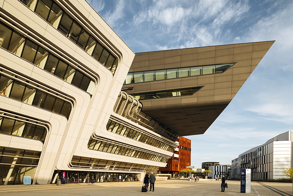 Exterior of Vienna University of Economics & Business Campus designed by Zaha Hadid Architects, Vienna, Austria