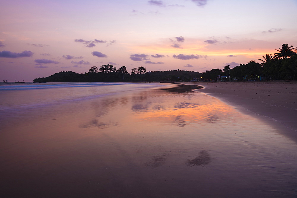Busua Beach at sunset, Ghana, Africa