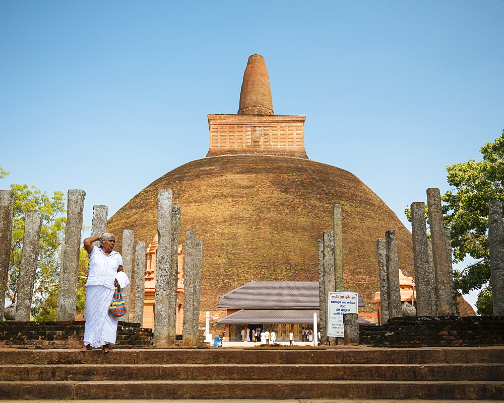 Abhayagiri Dagoba, Anuradhapura, UNESCO World Heritage Site, North Central Province, Sri Lanka, Asia