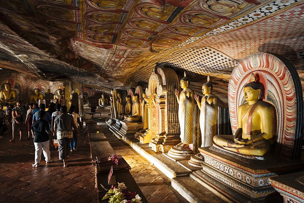 Dambulla Rock Cave Temple, Central Province, Sri Lanka, Asia - 848-1768