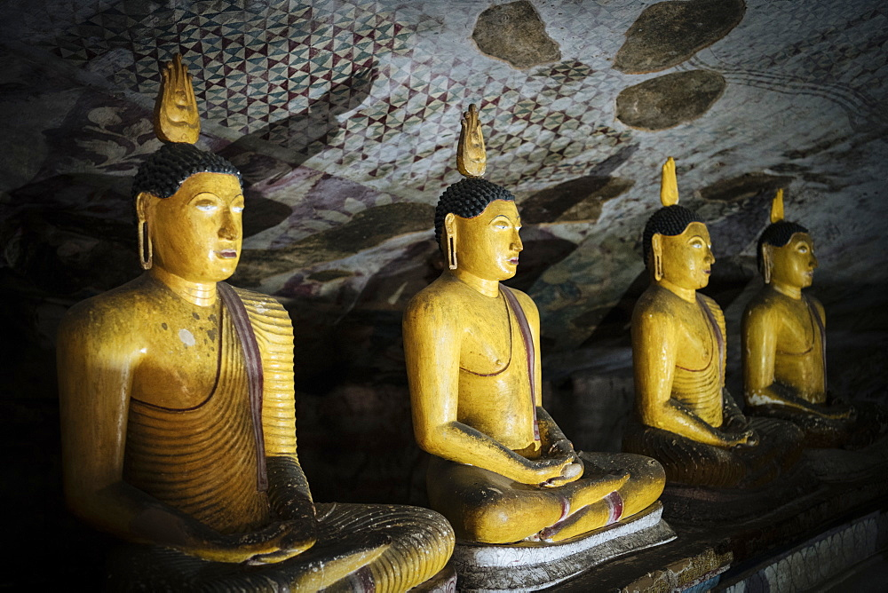Dambulla Rock Cave Temple, UNESCO World Heritage Site, Central Province, Sri Lanka, Asia