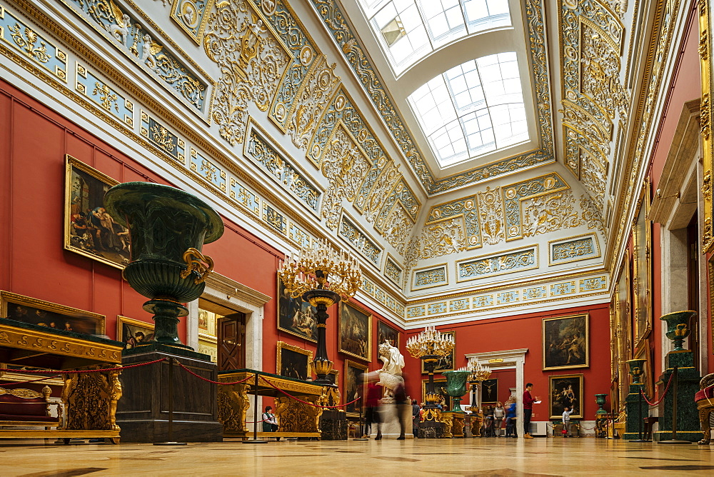 Interior of The State Hermitage Museum, Saint Petersburg, Leningrad Oblast, Russia