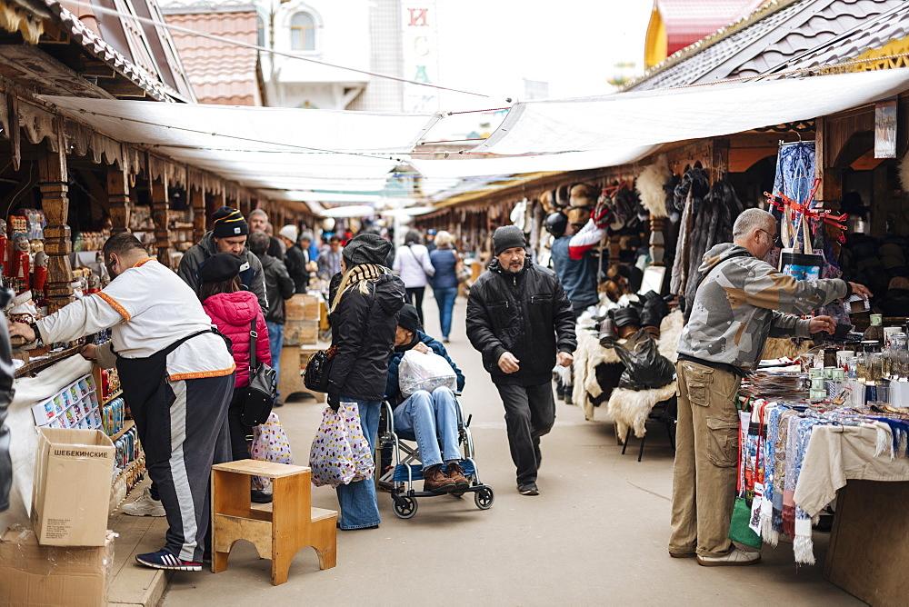 Izmaylovsky Bazaar, Moscow, Moscow Oblast, Russia, Europe