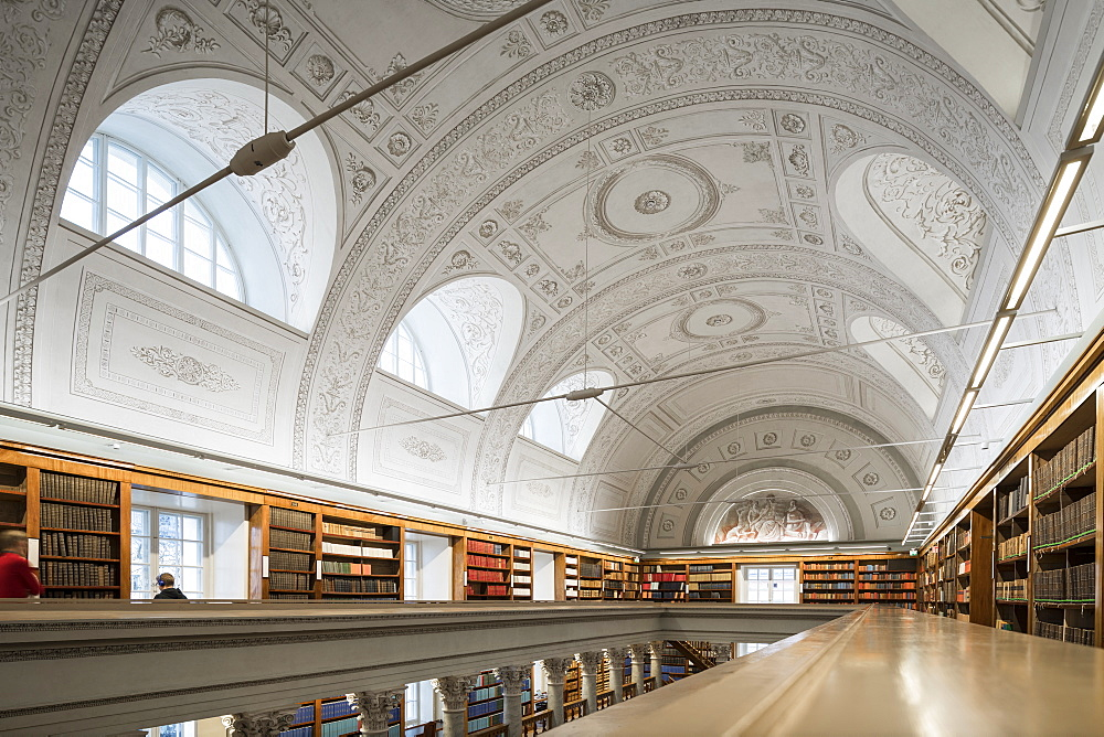Interior of The National Library of Finland, Helsinki, Finland, Europe