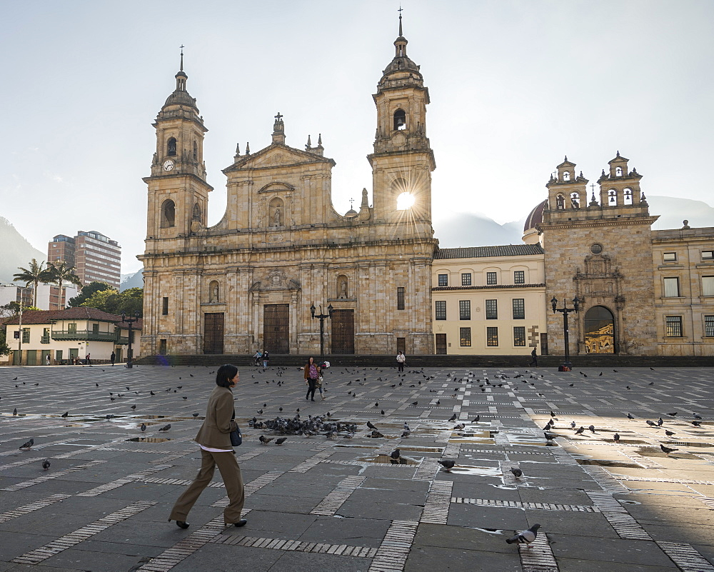 Exterior of National Cathedral, Bolivar square, La Candelaria, Bogotá, Cundinamarca, Colombia, South America