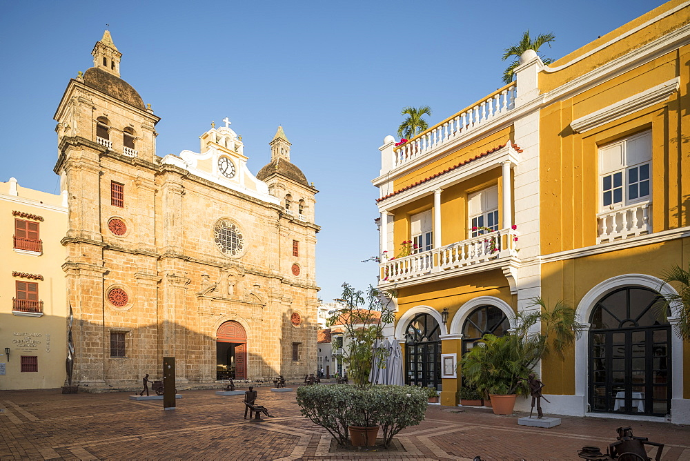 Church of San Pedro, Old City, UNESCO World Heritage Site, Cartagena, Bolivar Department, Colombia, South America - 848-2097