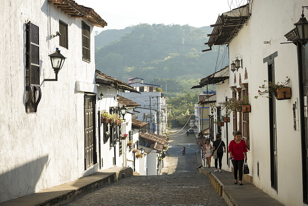 Street scene, Giron, Santander, Colombia, South America